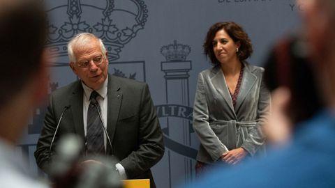 Josep Borrel e Irene Lozano explicaron la trascendencia del fallo del Supremo al cuerpo diplomático