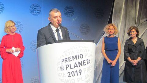 Vilas, durante su intervención en el premio Planeta