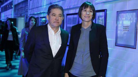 El alcalde de Pontevedra, Miguel Anxo Fernández Lores, y la portavoz nacioanl del BNG, Ana Pontón