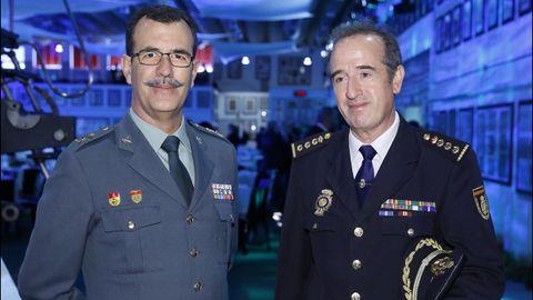 El general Rodríguez y el comisario José Luis Balseiro