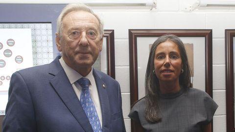 Ángel Jove, presidente de Anjoca, junto a su sobrina Felipa Jove, presidenta de la Fundación María José Jove