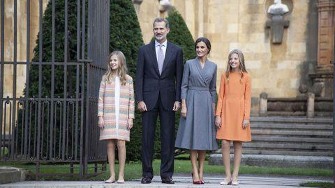 La familia real en su visita a Oviedo