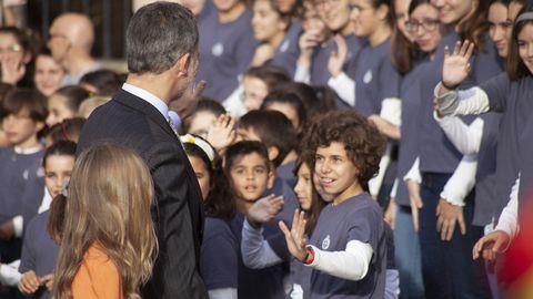 La familia real en Oviedo