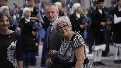 Joanne Chory a su llegada al Teatro Campoamor