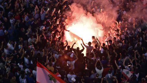 Protestas contra el Gobierno en el Líbano