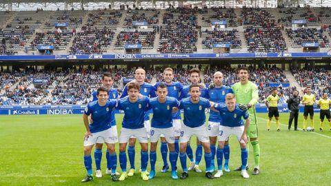 Alineación del Real Oviedo ante el Girona