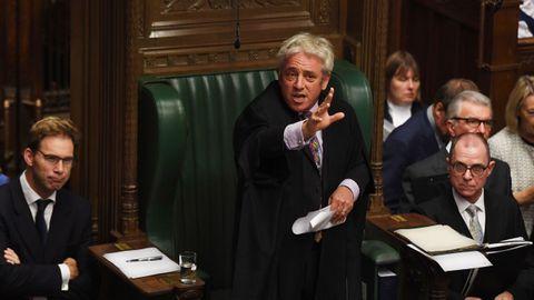Bercow vetó la votación del acuerdo, al considerar que la misma moción que se presentó el sábado