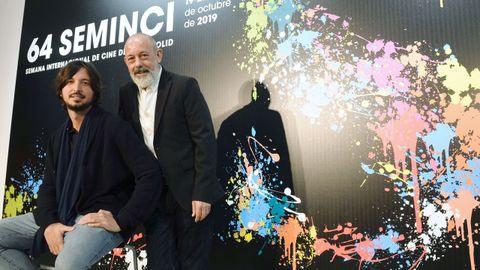 Carlos Polo (izquierda) y Chema del Barco presentaron «El plan» en la Seminci