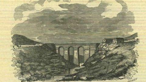 El puente en un dibujo aparecido en el Semanario pintoresco español en el año 1850