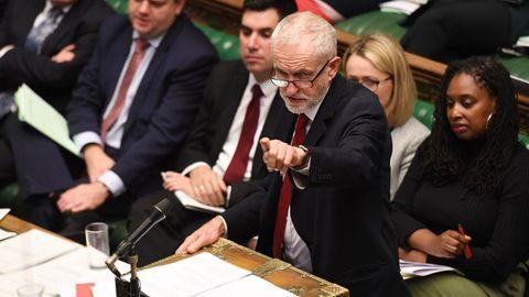 Corbyn, durante la sesión del martes en el Parlamento britanico