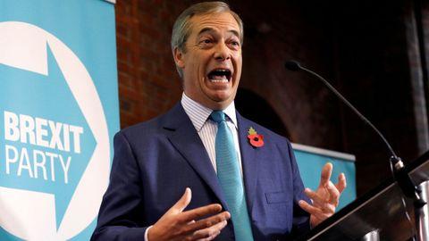Farage lanzó su campaña con la oferta a Johnson de una alianza electoral