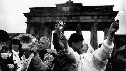 Celebración ante la Puerta de Brandeburgo