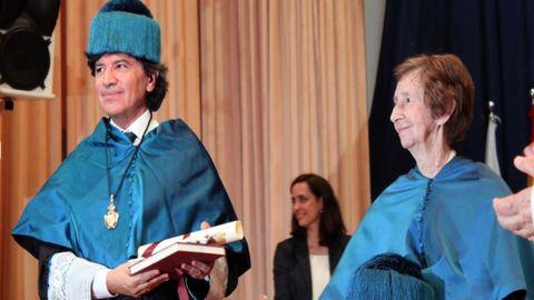 Margarita Salas y Carlos López Otín