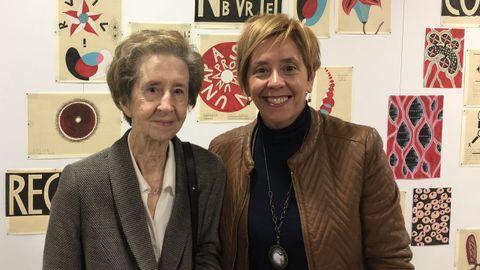 Margarita Salas con Marisol Soengas, la autora del artículo