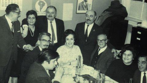 Quica de Zanzi, durante una reunión del partido socialista chileno en 1968
