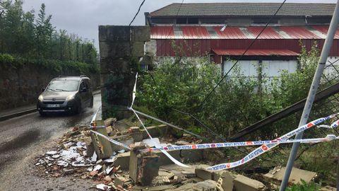 Los efectos del temporal en Vigo