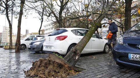 Efectos del viento en Vigo