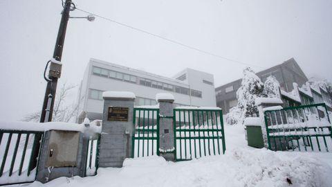 Colegio cerrado en Pedrafita do Cebreiro