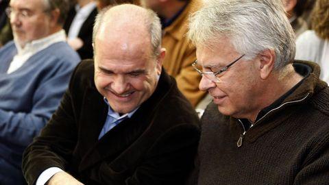 Manuel Chaves y Felipe González, en el 2007