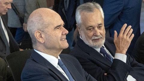 Chaves y Griñán, en una foto de octubre del 2018, durante el juicio por los ERE andaluces