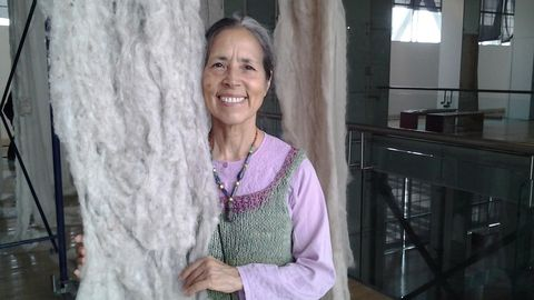La artista, poeta y activista chilena Cecilia Vicuña