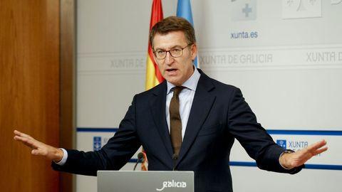 Núñez Feijóo asegura que el PP permitiría gobernar a Sánchez si rompe con UP y rechaza a ERC