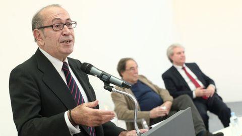 El ex secretario general del PSE, Nicolás Redondo, durante la presentación del manifiesto