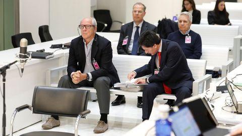 Gorriarán y González Mera, delante; detrás, Gayoso y Pego.