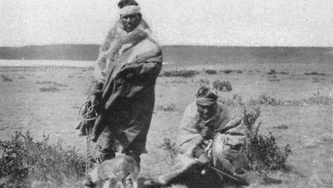 Indios tehuelches en Río Gallegos
