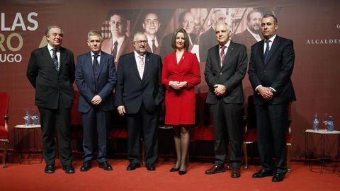 Entrega de las medallas de oro a los exalcaldes de Lugo