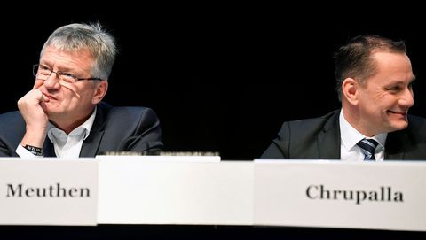 Jörg Meuthen  y Tino Chrupalla, nuevos líderes de la formación ultraderechista AfD