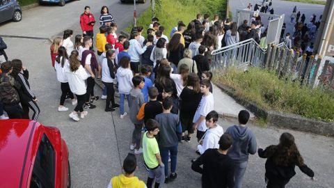 Alumnos de instituto de Galicia