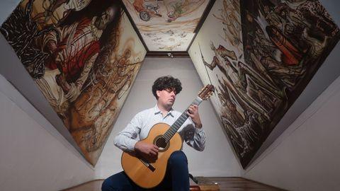 Samuel Diz, en el Museo Iconográfico del Quijote, en Guanajuato