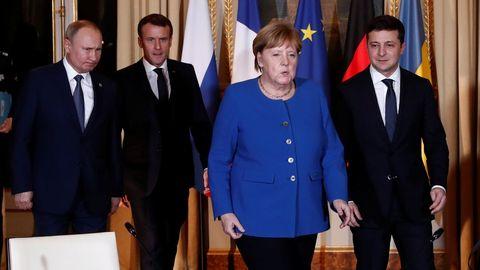 Putin y Zelenski se reunieron en Paris para  buscar un arreglo al conflicto en el Donbás