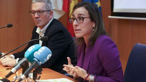 La conselleira de Infraestruturas e Mobilidade, Ethel Vázquez,