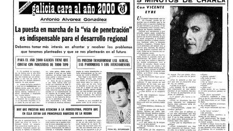 Última página de La Voz de Galicia de diciembre de 1969 en la que un joven Antonio Álvarez hablaba dle futuro de Galicia en el año 2000