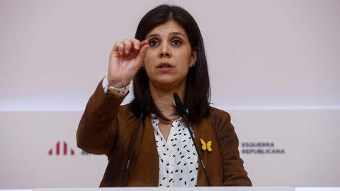 Marta Vilalta, portavoz y secretaria general adjunta de ERC