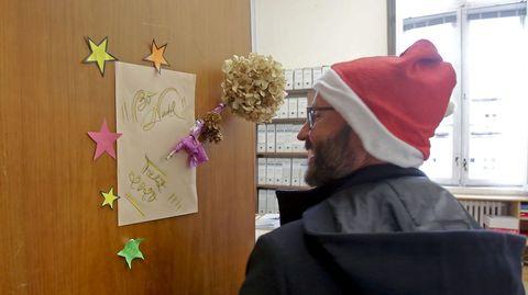 Decoración navideña en la Diputación de Pontevedra