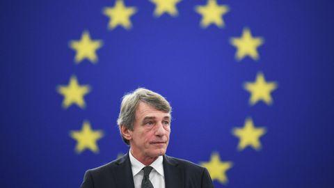 El presidente del Parlamento Europeo, David Sassoli