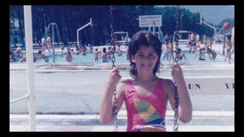 Con nueve años, en Samil