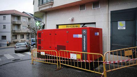 Un generador instalado en Cortegada para dar servicio a los vecinos