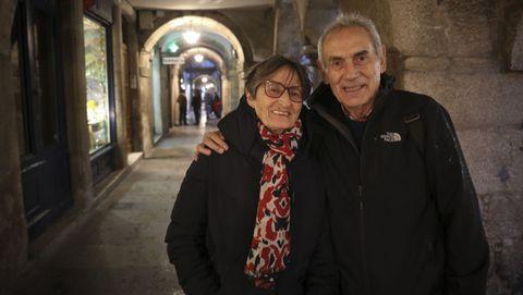 Nogueira con Paz, compañera de toda una vida, en Santiago