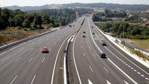 La Autopista del Atlántico a su paso por Santiago