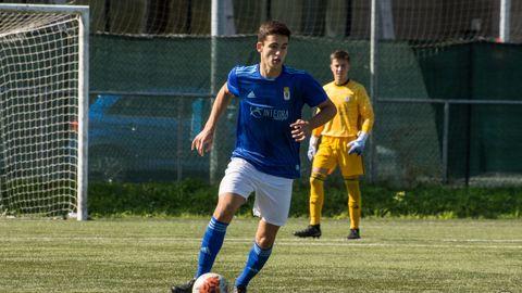 Lucas Laso, en un partido con el juvenil B de la temporada 19/20