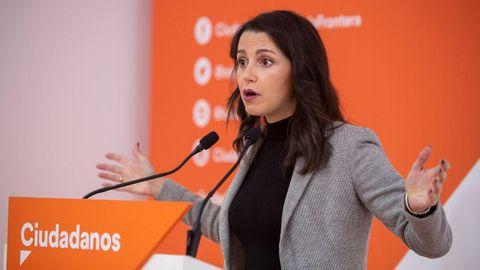 Inés Arrimadas, presidenta de Ciudadanos, en una imagen de archivo