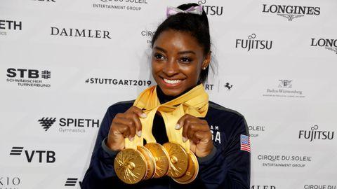 Cuatro oros y una plata logró Simone Biles en los Juegos de Río 2016. Ahora, después de destrozar todos los registros en los Mundiales de gimnasia artística, con 25 medallas, planea retirarse después de Tokio.