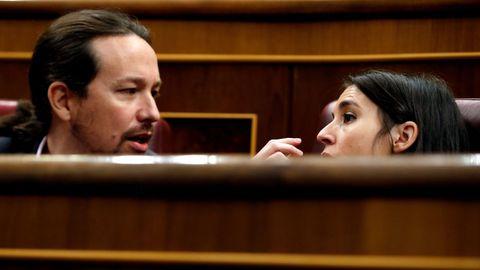 Pablo Iglesias e Irene Montero, de Unidas Podemos