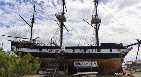 La recreación del Beagle tiene una eslora de 27, 5 metros