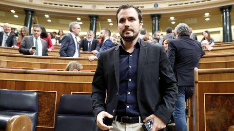 El líder de Izquierda Unida, Alberto Garzon
