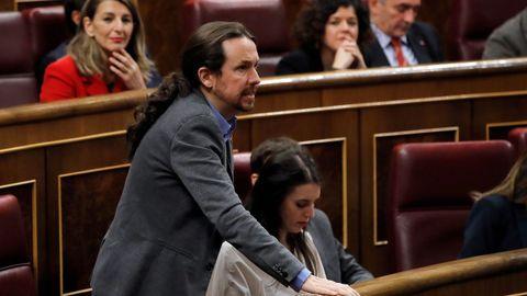 Momento de la votación de Pablo Iglesias